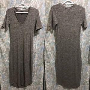 Aritzia | Wilfred Free Grey Midi Dress